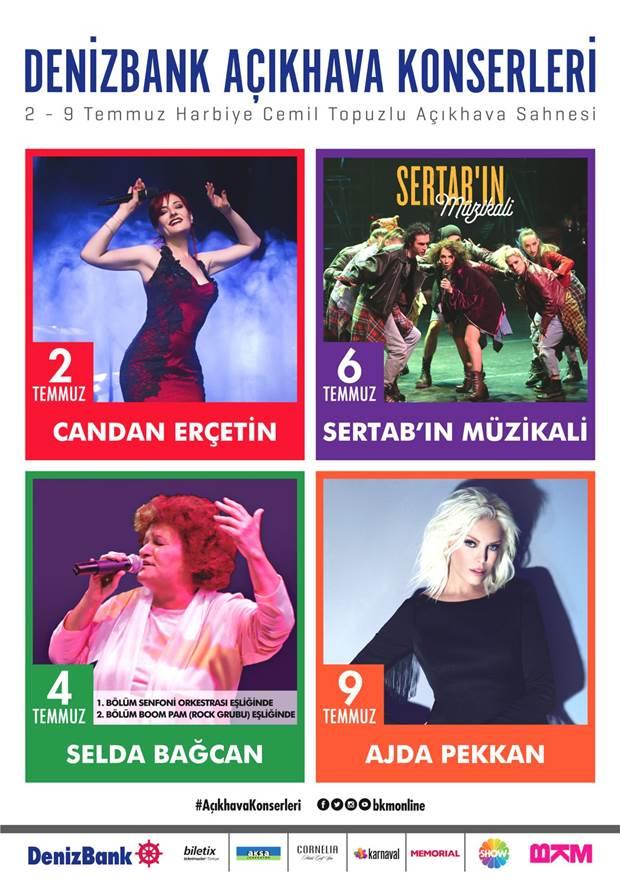 Selda Bağcan, Candan Erçetin, Ajda Pekkan ve Sertab Erener Açıkhava'da 1
