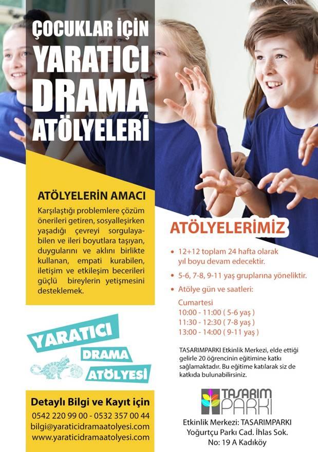 """""""Çocuklarla Yaratıcı Drama"""" eğitimleri Kadıköy'de başlıyor 1"""