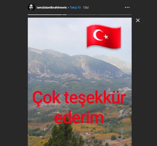 Zlatan İbrahimovic'in Türkiye paylaşımları büyük ilgi gördü 2