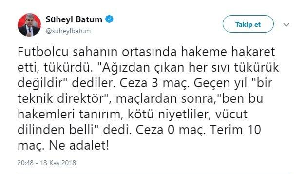 Fenerbahçe'ye FETÖ'cü diyen Süheyl Batum'a sert cevap 2