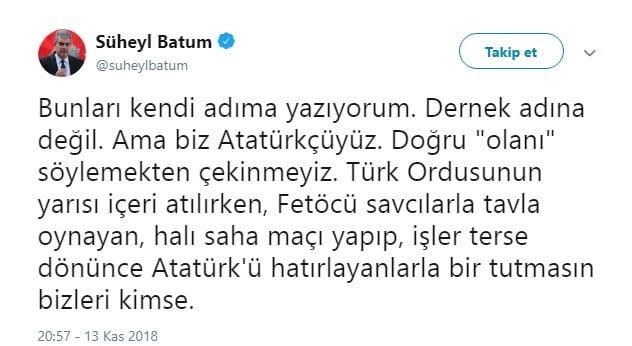 Fenerbahçe'ye FETÖ'cü diyen Süheyl Batum'a sert cevap 3