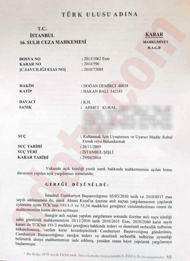 Tedavi ihtiyacı duymadım... Ahmet Kural'dan uyuşturucu açıklaması 1