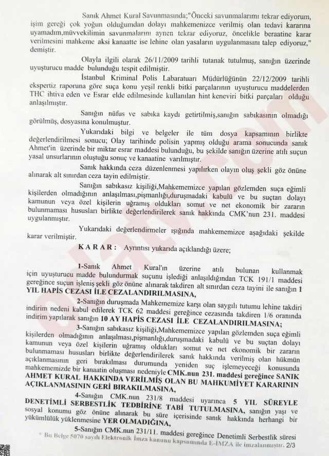 Tedavi ihtiyacı duymadım... Ahmet Kural'dan uyuşturucu açıklaması 2
