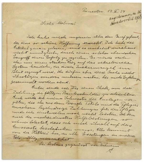 Albert Einstein'ın 'Hitler'in çılgınlığı'nı konu alan mektubu rekor fiyata satıldı 1