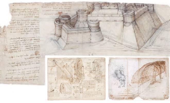 Leonardo Da Vinci'nin eskiz defteri dijital ortama aktarıldı 1
