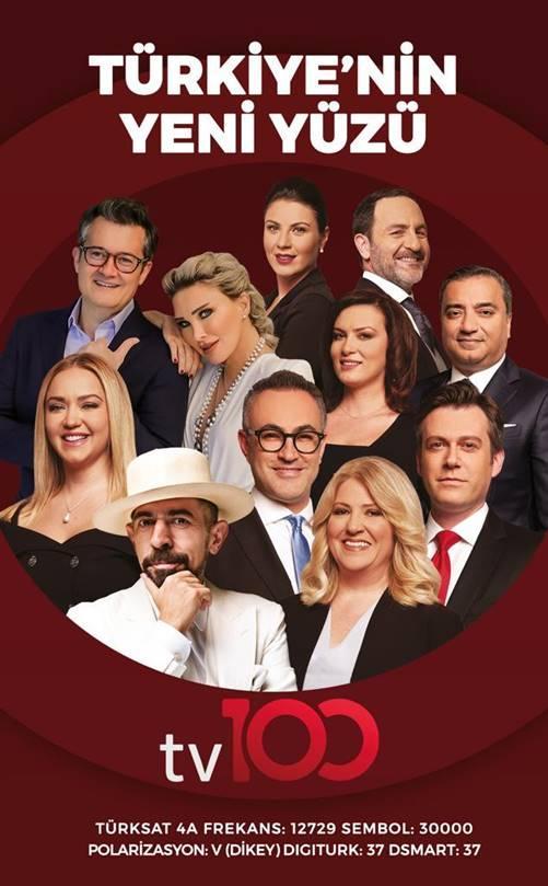 Türkiye'nin yeni yüzü tv100 yayın hayatına başladı 1